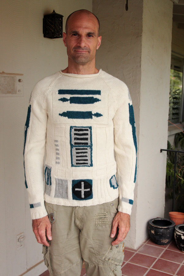 r2-d2 sweater merino wool custom star wars droid ericaknit