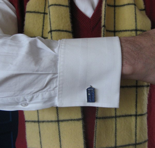 tardis cufflinks doctor who geek wear