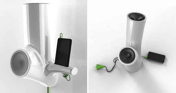 tree stump speaker audio thomas laenner design concept