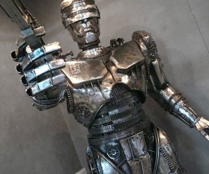 Steampunk Robocop Sculpture: Your Move, Creep!