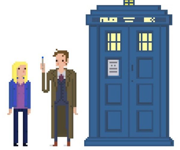 Doctor Who Pixel Animations by Lucile Patron