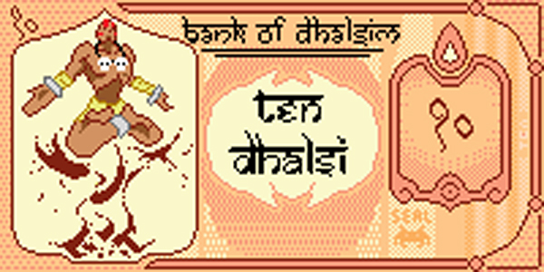 1 dhalsim pixel banknote by killermachine