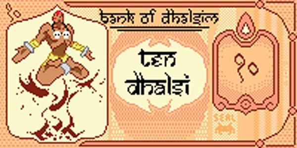 dhalsim pixel banknote by killermachine