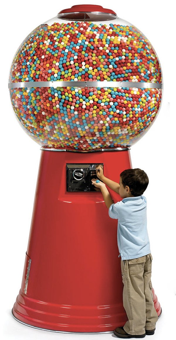 14,450 gumball machine from hammacher schlemmer