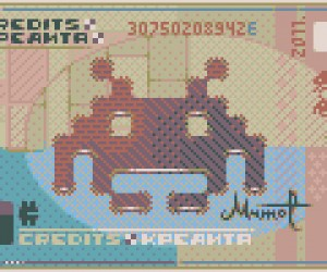 2 space invaders pixel banknote by mrmo Taurus 300x250