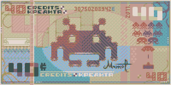 2 space invaders pixel banknote by mrmo Taurus