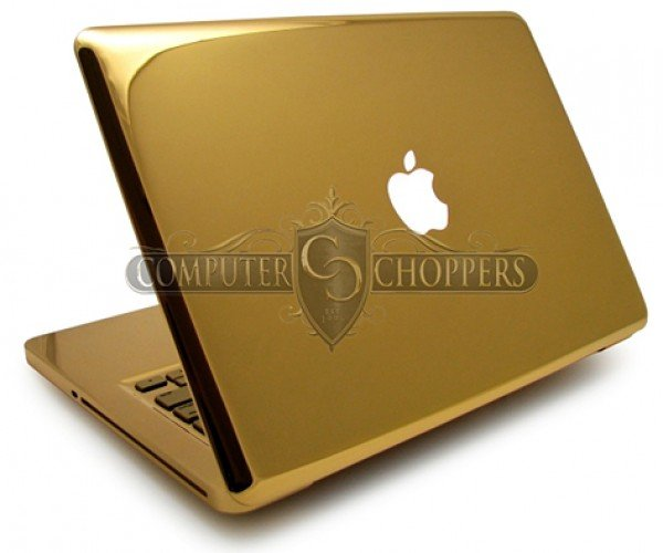 24 karat gold macbook pro by computer choppers 5