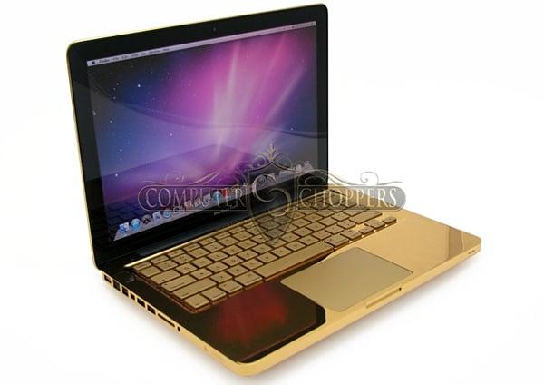 24 karat gold macbook pro by computer choppers