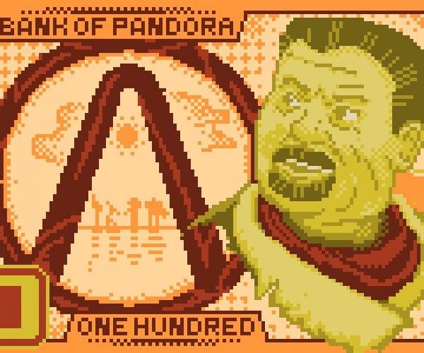 borderlands pixel banknote by shadyleaf