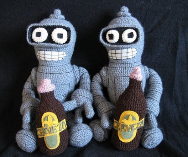 Baby Bender Amigurumi: Bite My Shiny Metal Robo-Diaper