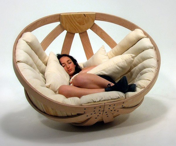 Now Grown-Ups Can Go Rock-A-Bye Baby in These Adult Cradles
