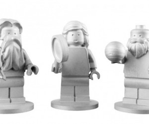 Three Lego Minifigs on a Mission to Jupiter