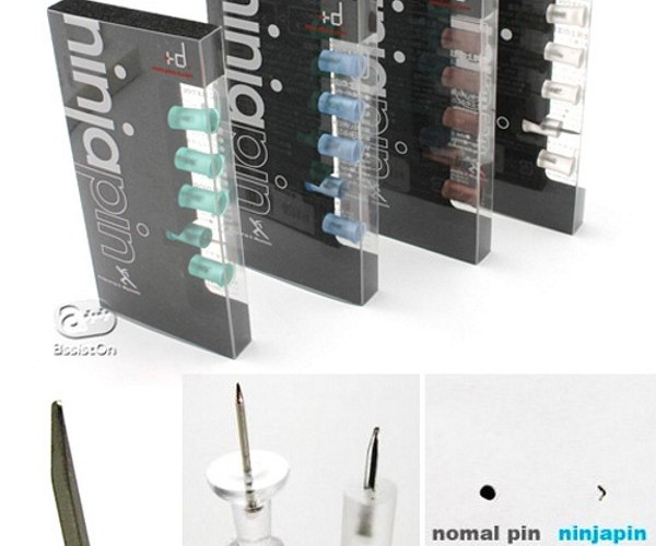 "Ninjapin Push Pins Will Make You Go ""Look Ma, No More Holes On The Walls!"""
