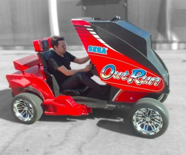 OutRun: Augmented Reality Driving Video Game Actually Drives
