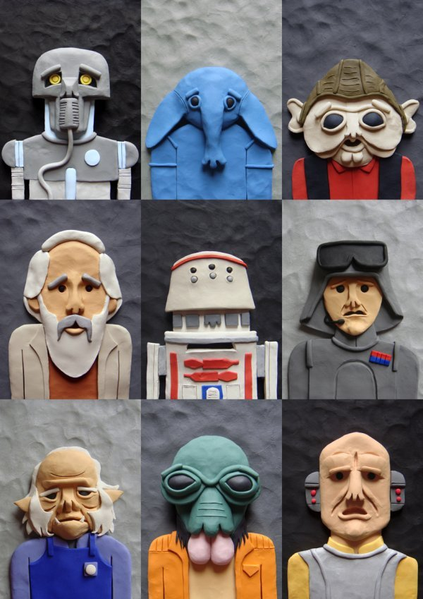 Plasticine Star Wars Cast