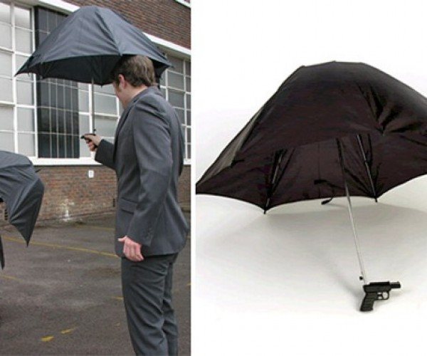 Squirt Umbrellas Collect Rain for Water Gun Chaos