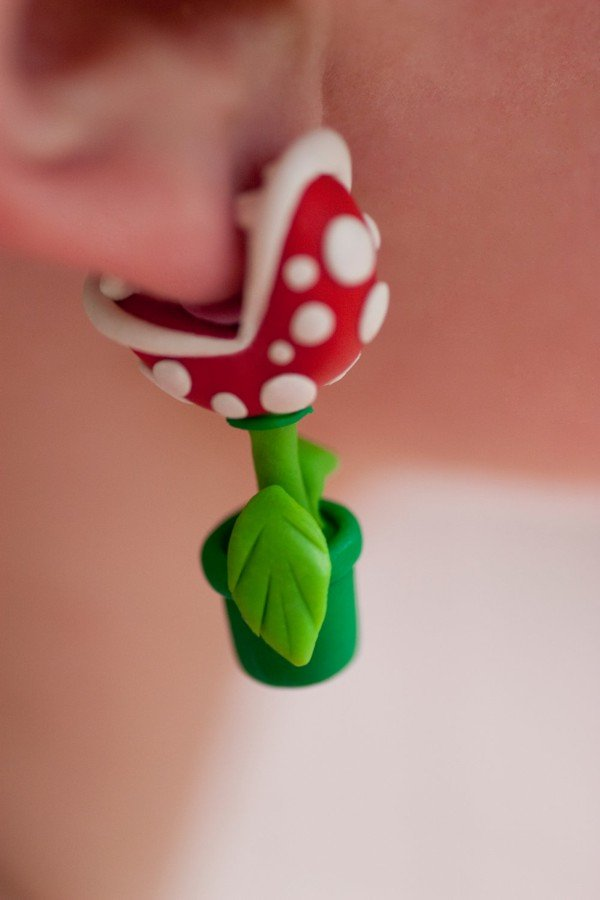 Super Mario Bros Piranha Earrings
