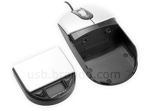 USB Optical Mouse with Pocket Digital Scale