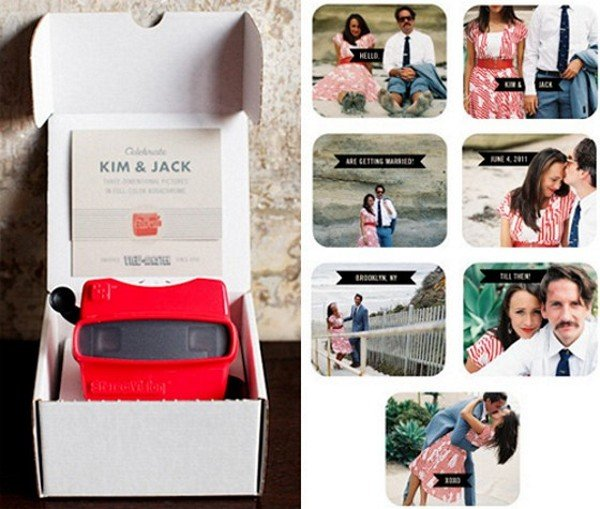 Viewmaster Wedding Invitation