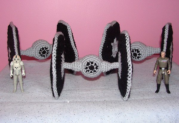 crocheted tie fighters 1