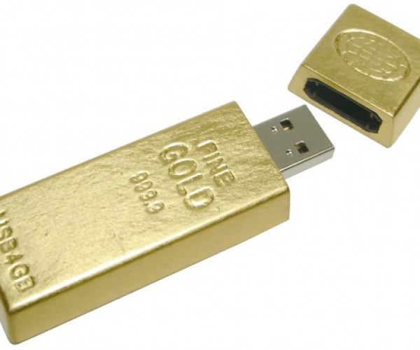 gold ingot usb flash drive from geekstuff4u