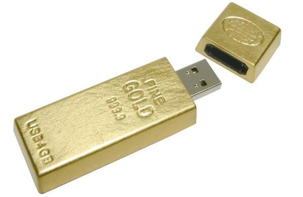 gold ingot usb flash drive from geekstuff4u