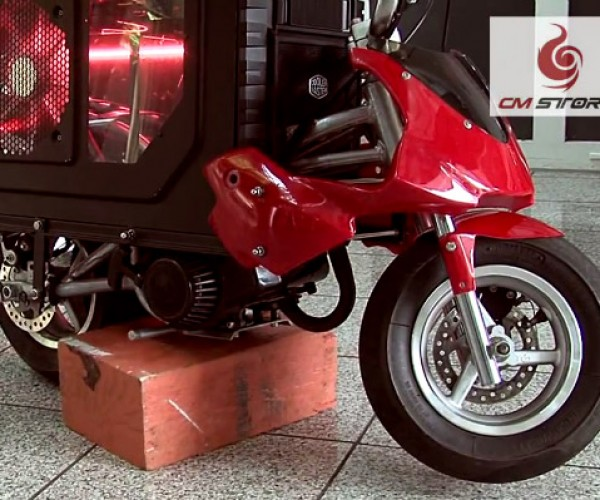 HAF X Mini Bike Casemod: Log On, then Ride Off