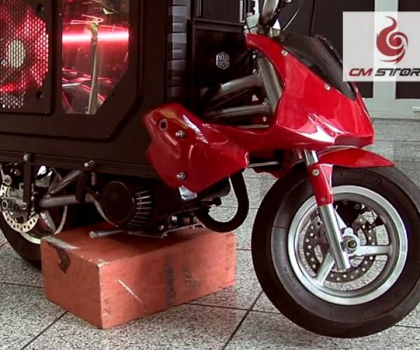 HAF X Mini Bike Casemod: Log On, then Ride Off