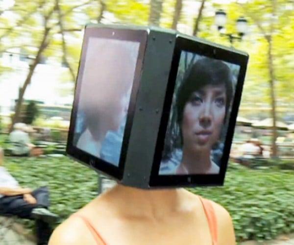 Come On Guys, Give iPad Head Girl's Face a Swipe
