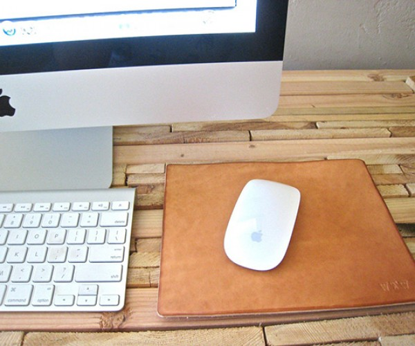 leather mouse pad by doneleather 2