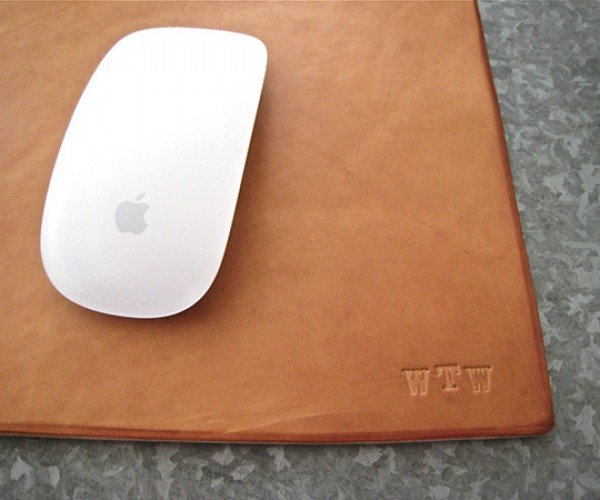 leather mouse pad by doneleather 3