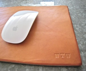 Leather Mouse Pad: Not Made of Dead Mice. At Least I Hope So.