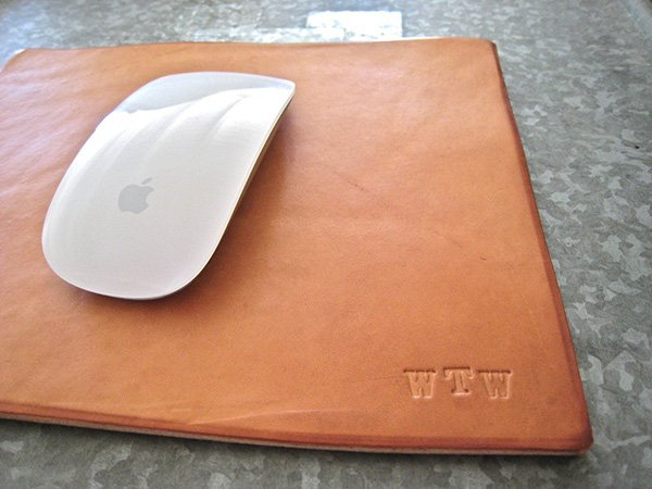 leather mouse pad by doneleather