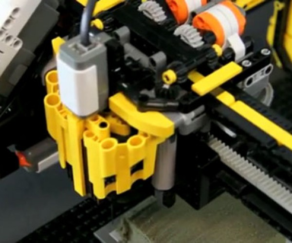 LEGO Milling Machine Carves Floral Foam into 3D Shapes