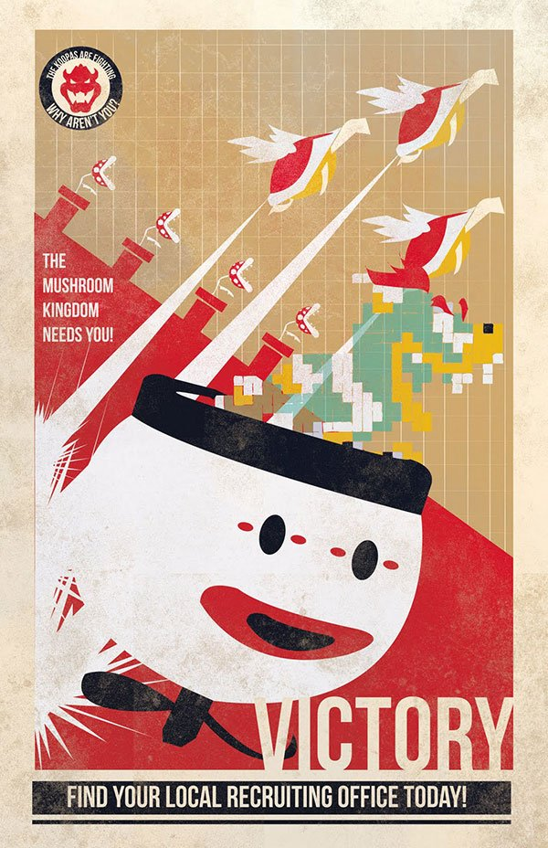 mario propaganda posters by fro design co 2