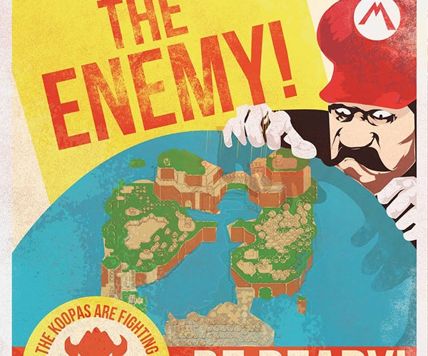 Mario Propaganda Posters: Long Live the King! (Koopa)