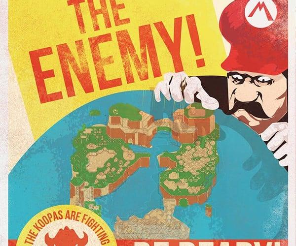 Mario Propaganda Posters: Long Live the King! (Koopa)