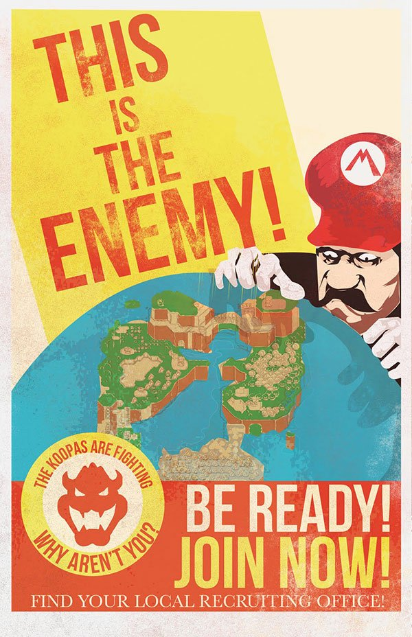 mario propaganda posters by fro design co