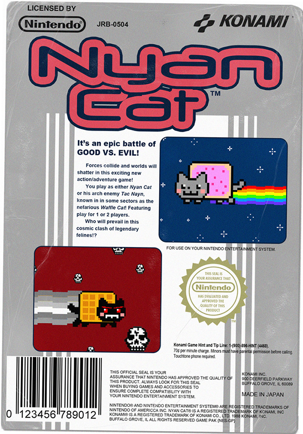 nes nyan cat by jr barker 2