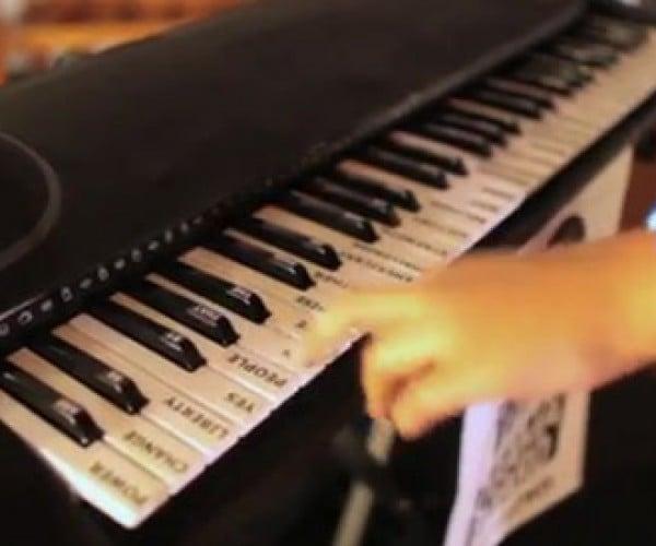 Hacked Keyboard Plays Obama Voice Samples