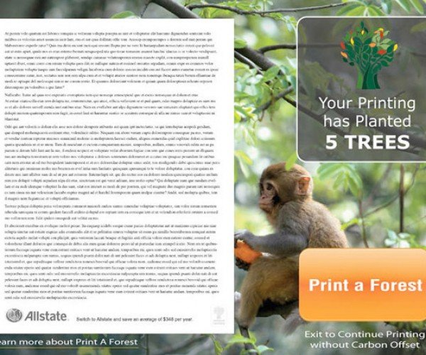 Print A Forest: 100 Documents = 1 Tree