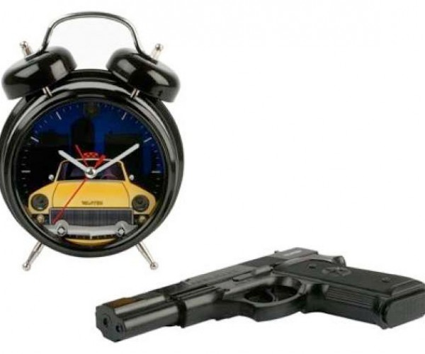 Shoot This Alarm Clock Every Morning to Shut It Up