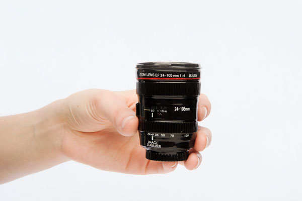 Canon Lens Shot Glass