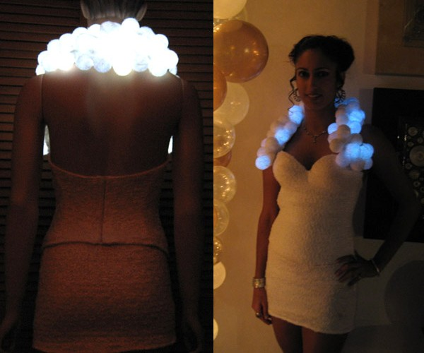 Be The Center of Attention at Every Party With This Snowball LED Mini Dress