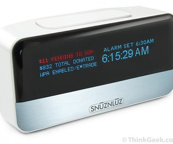 SnūzNLūz Wi-Fi Donation Alarm Clock: Time Literally is Money