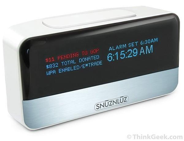 snuznluz wi-fi donation alarm clock