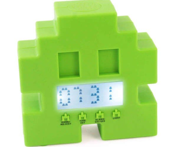 Space Invader Alarm Clock Shuffles from Side to Side, Dares You to Shoot