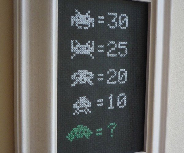 Space Invaders Cross-Stitch Helps You Score