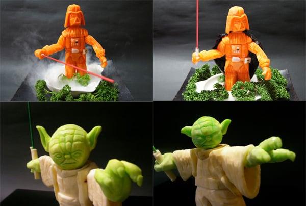star wars vegetable carving by okitsugu kado