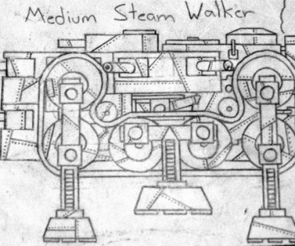 Steam War Machines Go from Sketches to Awesome LEGO Creations